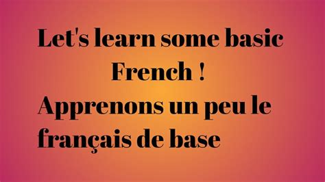 French language/ Basic french words/ French greetings and ...