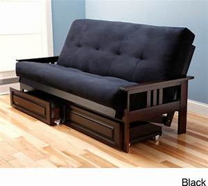 beli mont multi flex microsuede futon with drawers With sofa bed with drawers