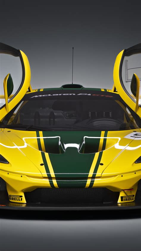 wallpaper mclaren p gtr hypercar sedan yellow cars