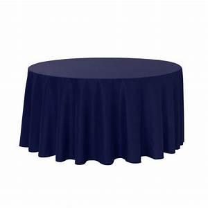 Nappe Bleu Marine : nappe ronde jetable 240cm bleu marine en tissu intiss badaboum ~ Teatrodelosmanantiales.com Idées de Décoration
