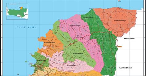 peta kota peta kabupaten jepara