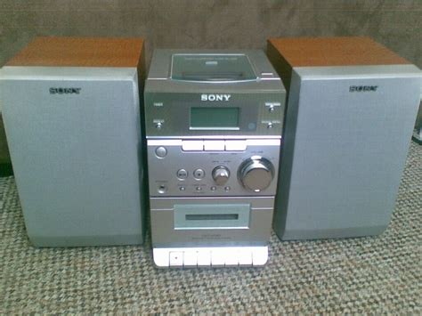 Cd Cassette Player by Sony Micro Hi Fi Stereo Cd Cassette Player And Radio