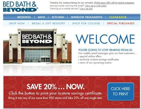 Bed Bath Beyond Baby Registry by Bed Bath And Beyond 20 Coupon