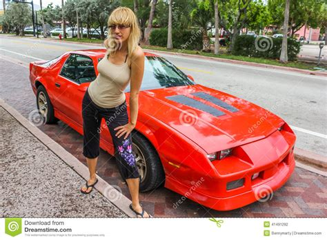 sport cars with girls woman and sports car stock photo image of young fast