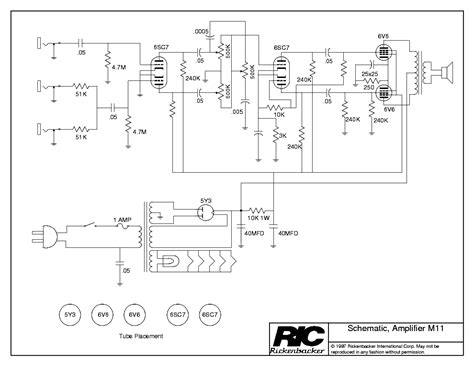Rickenbacker 620 Wiring Diagram by Rickenbacker M11 Service Manual Schematics