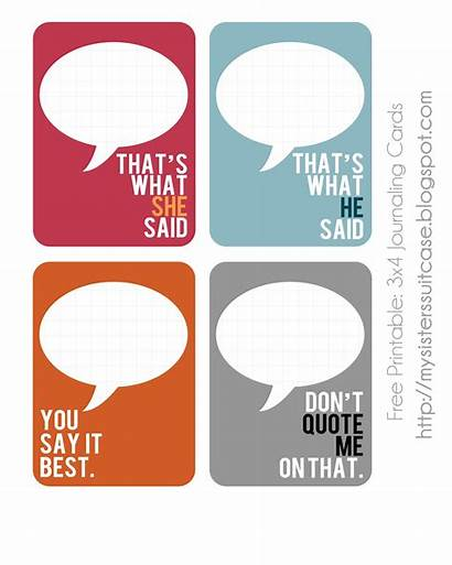 Cards Project Printable Journaling Quoted Sister Printables