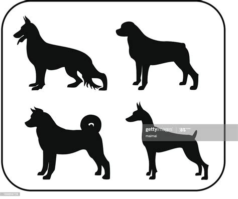 police personal silhouettes protection dogs german shepherd vector dog illustrations creative gettyimages