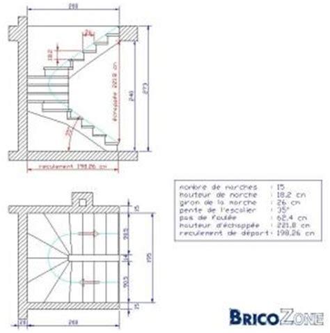 calcul d un escalier quart tournant calcul escalier tournant avec palier
