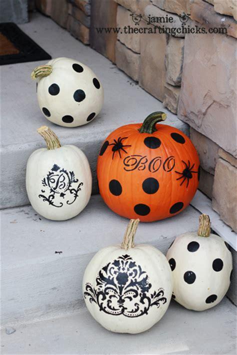 pumpkin painting stencils painting pumpkins martha stewart style the crafting chicks