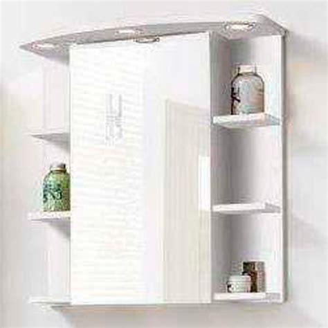 comptoir de cuisine blanc element haut avec porte miroir et etagères garda blanc