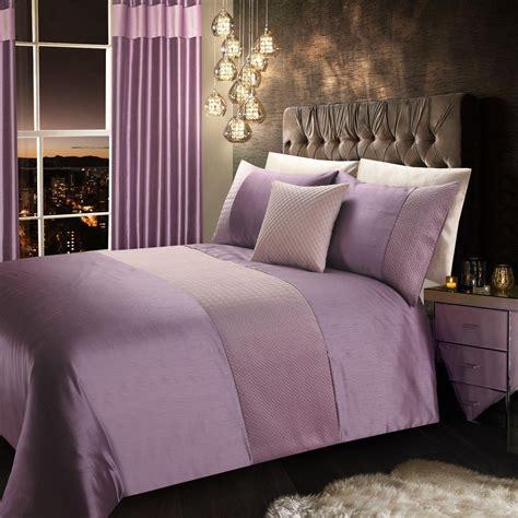 mauve lilac stylish quilted velvet luxury duvet cover
