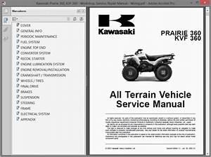 Kawasaki Prairie 360  Kvf 360 - Service Manual