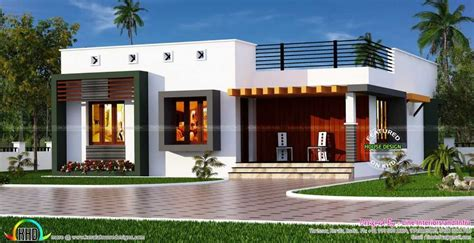 Front Elevation Of Single Floor House Kerala Images Simple