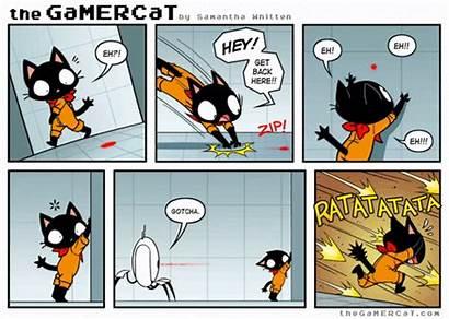 Gamercat Target Acquired Cat Comics Gamer Funny