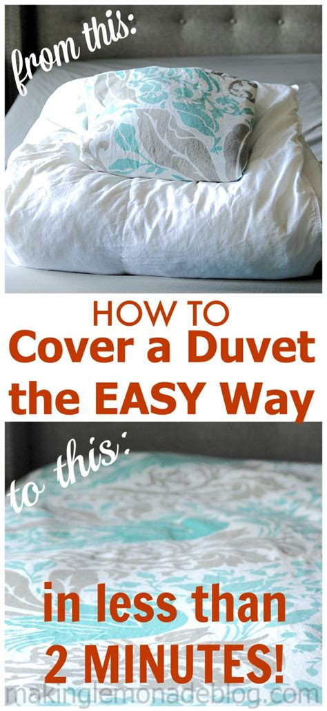 how to make a duvet cover how to cover a duvet the easy way the two minute duvet