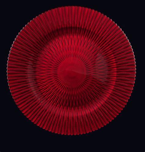 13″ Apple Red Marbella | Tesoro Event Rentals