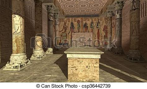 ancient egyptian temple  render
