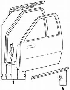 Genuine Oem Door  U0026 Components Parts For 1996 Toyota T100