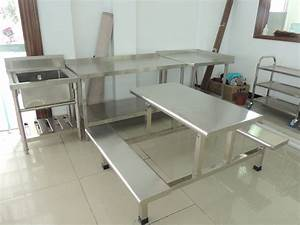 stainless steel restaurant dining table and chair set With stainless steel dining table set