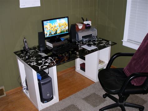 homemade computer desk plans  woodworking