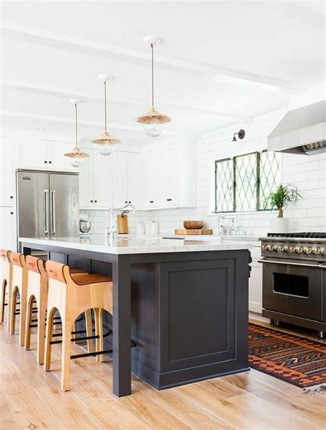 cuisine ilot central bar la cuisine équipée avec îlot central 66 idées en photos