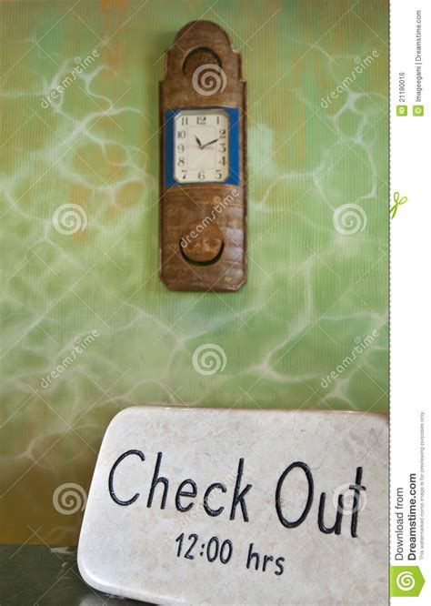 Check Out Time Royalty Free Stock Image  Image 21180016