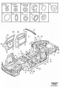 Volvo Xc90 Plug  Seals Body  Passenger Compartment And