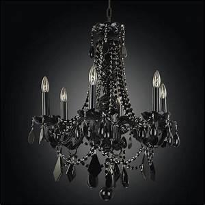 Black crystal chandeliers tie glow? lighting