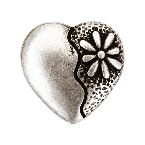 bloem hart klederdrachtknoop hart bloem oudzilver metalen knopen
