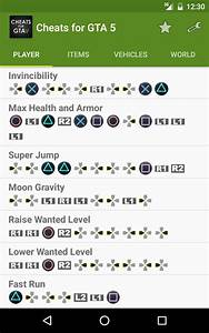 Cheats for GTA 5 (PS4/Xbox/PC) - Android Apps on Google Play