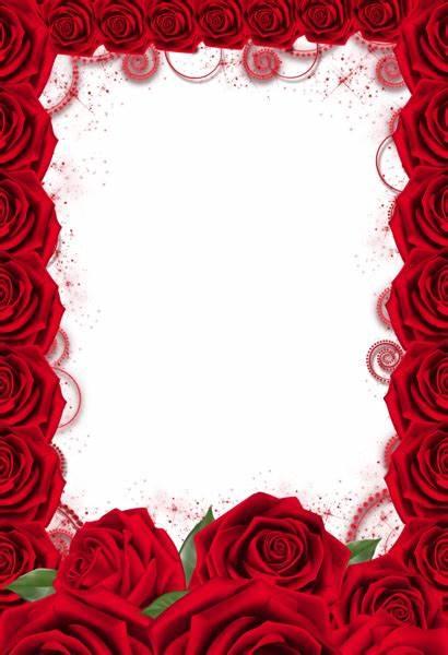 Transparent Rose Frame Frames Roses Paper Background