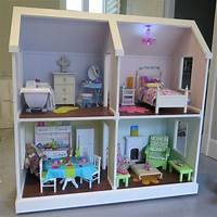 american girl dollhouse Doll House Plans for American Girl or 18 inch dolls 4 Room