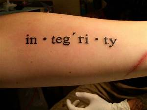 integrity • Contrariwise: Literary Tattoos