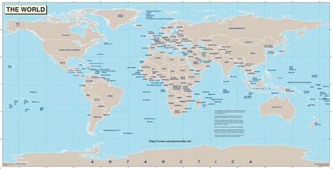 Carte Politique Du Monde à Imprimer by Gro 223 Weltkarte Kostenlos