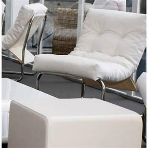 Fauteuil Simili Cuir : fauteuil seine en simili cuir blanc ~ Teatrodelosmanantiales.com Idées de Décoration