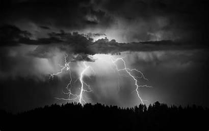Lightning Storm Clouds Rain Thunderstorm Sky Nature