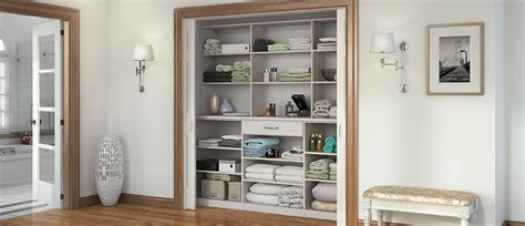 linen cabinets hall closet organizers  california closets