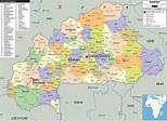 Detailed Political Map of Burkina Faso - Ezilon Maps