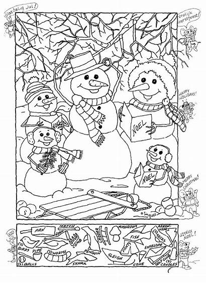 Hidden Printable Christmas Object Objects Puzzles Games