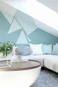 les 25 meilleures idees concernant mur geometrique sur With peinture pour les murs
