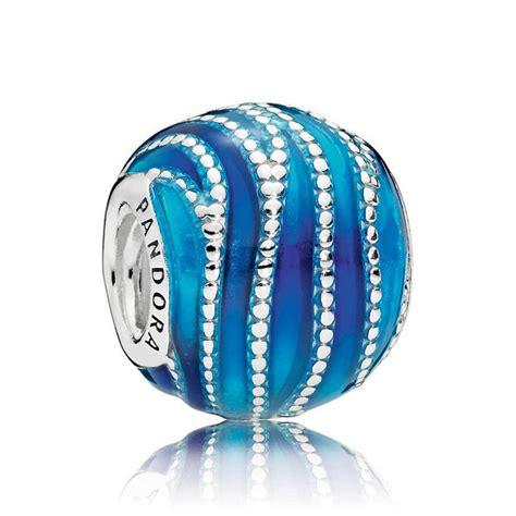 Pandora Blue Swirls Enamel Charm - 797012ENMX | Ben Bridge ...