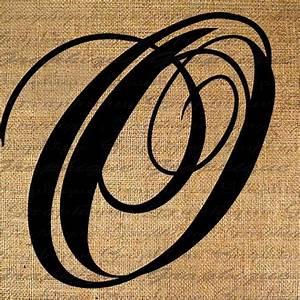 monogram initial letter o digital collage sheet burlap With letter o monogram
