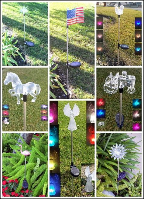 Solar Power Garden Decoration L by Garden Decoration Solar Powered Color Changing Yard Lawn