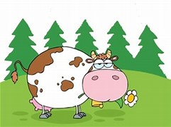 Image result for Free Clip Art of Cow in a field