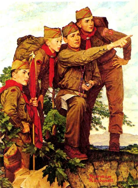 Pointing the Way by Norman Rockwell ~ Boy Scouts ...