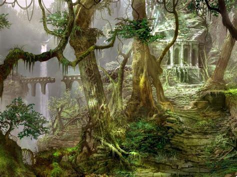 ruins ruin decay jungle forest architecture trees