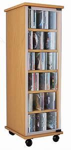 Schrank Mit Regal : vcm cd dvd regal tower vitrine schrank mit rollen drehbar farbwahl valenza farbe kern nussbaum ~ Markanthonyermac.com Haus und Dekorationen