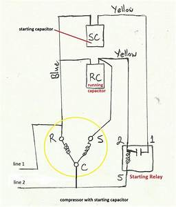 For Compressor Motor Wiring Diagram