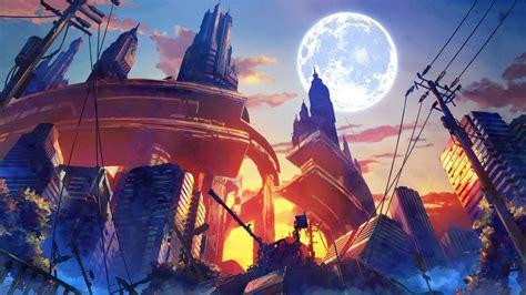 fantasy art anime destruction artwork wallpapers hd