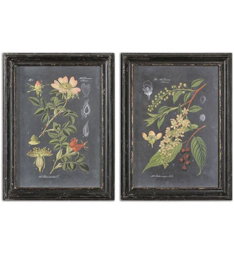 Uttermost Wall Pictures by Ls Uttermost 56053 Midnight Botanicals Wall